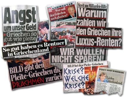 """""""Bild"""" hetzt weiter gegen Griechen"""