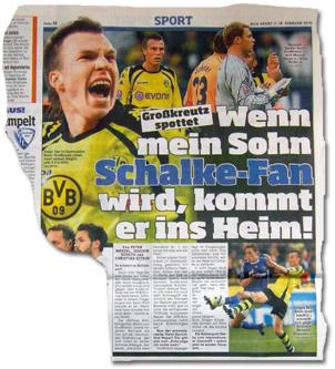 Großkreutz spottet: Wenn mein Sohn Schalke-Fan wird, dann kommt er ins Heim!