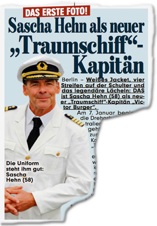"""Das erste Foto! Sascha Hehn als neuer """"Traumschiff""""-Kapitän"""