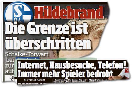 Hildebrand - Die Grenze ist überschritten. [Nächster Artikel:] Internet, Hausbesuche, Telefon! Immer mehr Spieler bedroht