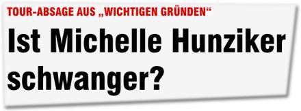 """TOUR-ABSAGE AUS """"WICHTIGEN GRÜNDEN"""": Ist Michelle Hunziker schwanger?"""