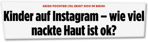 Screenshot Bild.de - Kinder auf Instagram – wie viel nackte Haut ist ok?