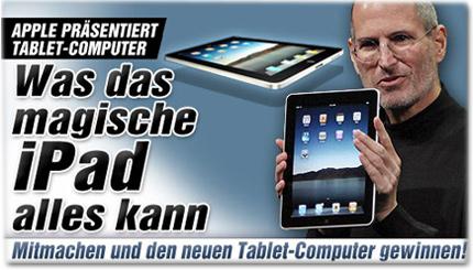 Apple präsentiert Tablet-Computer: Was das magische iPad alles kann - Mitmachen und den neuen Tablet-Computer gewinnen!