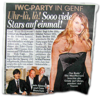 IWC-Party in Genf: Uhr-là, là! Sooo viele Stars auf einmal!