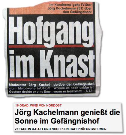 Hofgang im Knast - Jörg Kachelmann genießt die Sonne im Gefängnishof