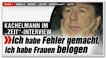 """Kachelmann im """"Zeit""""-Interview: """"Ich habe Fehler gemacht, ich habe Frauen belogen"""""""