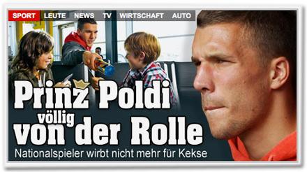 Prinz Poldi völlig von der Rolle: Nationalspieler wirbt nicht mehr für Kekse