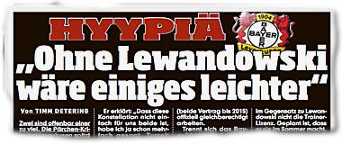 """SAMI HYYPIÄ: """"Ohne Lewandowski wäre einiges leichter"""""""