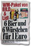 WM-Paket von BILD & Lidl: 6 Bier und 6 Würstchen für 1 Euro