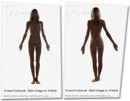 Stock images einer nackten Frau