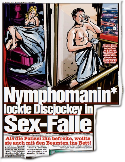 Nymphomanin* lockte Discjockey in Sex-Falle
