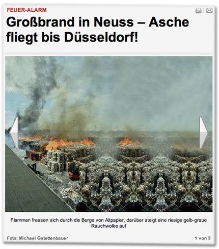 Feuer-Alarm: Großbrand in Neuss – Asche fliegt bis Düsseldorf!