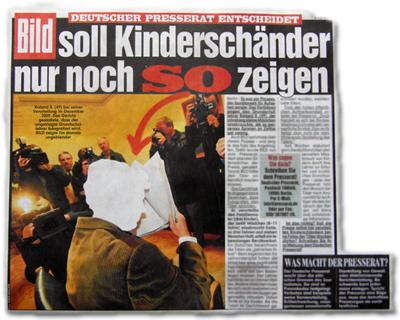 Deutscher Presserat entscheidet: BILD soll Kinderschänder nur noch so zeigen