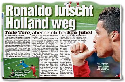 Ronaldo lutscht Holland weg — Tolle Tore, aber peinlicher Ego-Jubel