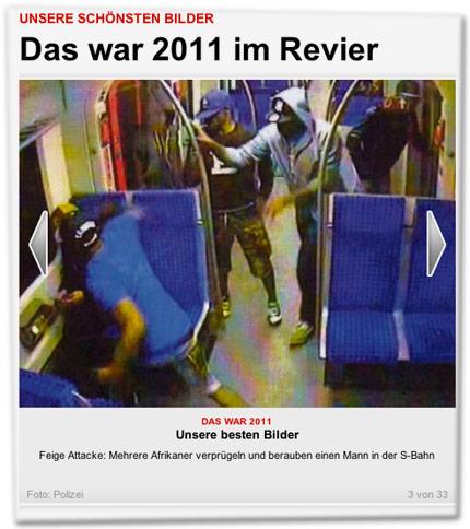 Feige Attacke: Mehrere Afrikaner verprügeln und berauben einen Mann in der S-Bahn
