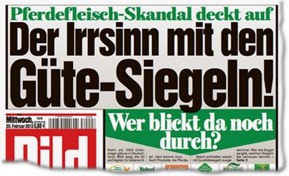 Pferdefleisch-Skandal deckt auf: Der Irrsinn mit den Güte-Siegeln! Wer blickt da noch durch?