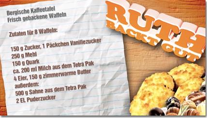 Zutaten für 8 Waffeln: (...) ca. 200 ml Milch aus dem Tetra Pak (...)500 g Sahne aus dem Tetra Pak