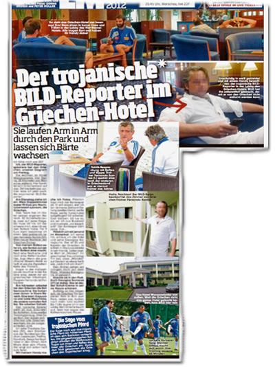 Der trojanische BILD-Reporter im Griechen-Hotel
