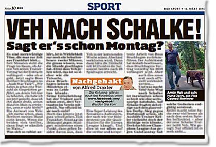 Veh nach Schalke! Sagt er es schon am Montag?