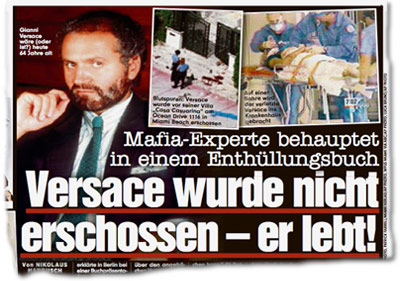 Mafia-Experte behauptet in einem Enthüllungsbuch: Versace wurde nicht erschossen – er lebt!
