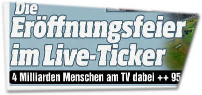Die Eröffnungsfeier im Liveticker: 4 Milliarden Menschen am TV dabei.