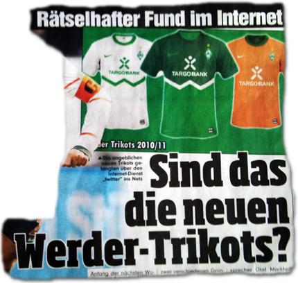 Rätselhafter Fund im Internet: Sind das die neuen Werder-Trikots?