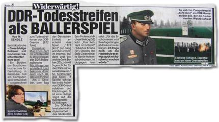Widerwärtig! DDR-Todesstreifen als Ballerspiel