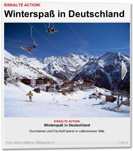 Winterspaß in Deutschland