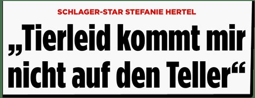 Screenshot Bild.de - Schlager-Star Stefanie Hertel - Tierleid kommt mir nicht auf den Teller