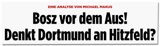 Screenshot Bild.de - Bosz vor dem Aus! Denkt Dortmund an Hitzfeld?