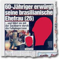 """""""60-Jähriger erwürgt seine brasilianische Ehefrau (26)"""""""