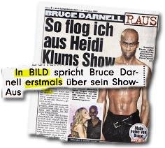"""""""In BILD spricht Bruce Darnell erstmals über sein Show-Aus"""""""