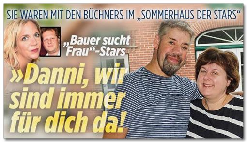 Screenshot Bild.de - Sie waren mit den Büchners im Sommerhaus der Stars - Bauer sucht Frau-Stars - Danni, wir sind immer für dich da!