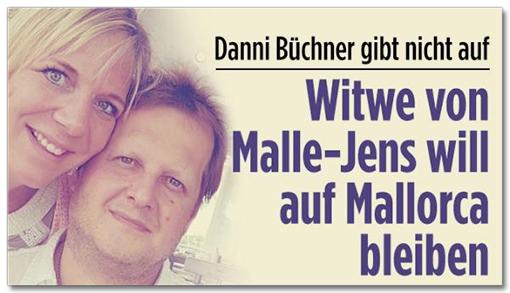 Screenshot Bild.de - Danni Büchner gibt nicht auf - Witwe von Malle-Jens will auf Mallorca bleiben