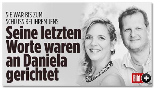 Screenshot Bild.de - Sie war bis zum Schluss bei ihrem Jens - Sein letzten Worte waren an Daniela gerichtet
