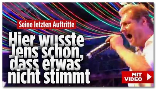 Screenshot Bild.de - Seine letzten Auftritte - Hier wusste Jens schon, dass etwas nicht stimmt