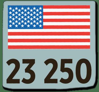 Ausriss Bild-Zeitung - Großaufnahme der Flagge der USA, die in der Bild-Grafik gezeigt wird