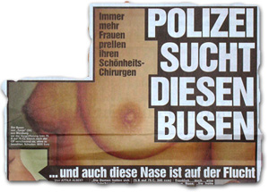 """""""Polizei sucht diesen Busen"""""""