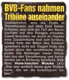 """BVB-Fans nahmen Tribüne auseinander"""
