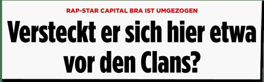 Screenshot Bild.de - Rap-Star Capital Bra ist umgezogen - Versteckt er sich hier etwa vor den Clans?