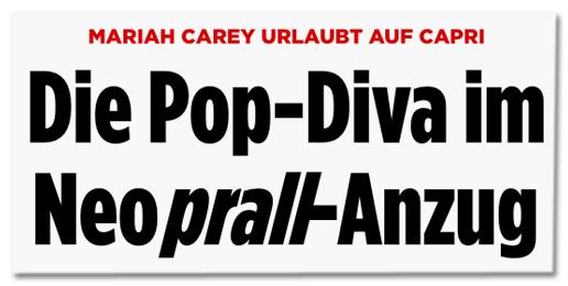 Screenshot Bild.de - Mariah Carey urlaubt auf Capri - Die Pop-Diva im Neoprall-Anzug