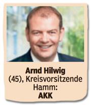 Ausriss Bild am Sonntag - Arnd Hilwig, 45, Kreisvorsitzende Hamm, Kramp-Karrenbauer