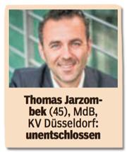 Ausriss Bild am Sonntag - Thomas Jarzombek, 45, Mitglied des Bundestags, unentschlossen