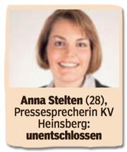 Ausriss Bild am Sonntag - Anna Stelten, 28, Pressesprecherin Kreisverband Heinsberg, unentschlossen
