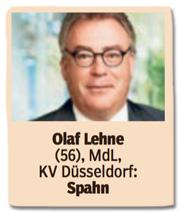 Ausriss Bild am Sonntag - Olaf Lehne, 56, Mitglied des Landtags Düsseldorf, Spahn