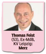 Ausriss Bild am Sonntag - Thomas Feist, 53, Ex-MdB, Friedrich Merz