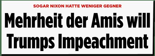 Screenshot Bild.de - Sogar Nixon hatte weniger Gegner - Mehrheit der Amis will Trumps Impeachment