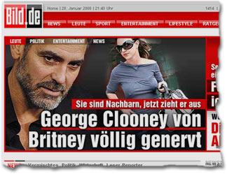"""""""Sie sind Nachbarn, jetzt zieht er aus -- George Clooney von Britney völlig genervt"""""""