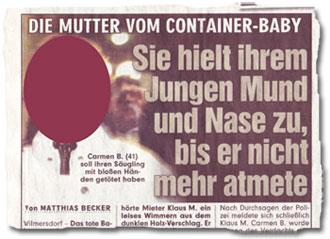"""""""Die Mutter vom Container-Baby: Sie hielt ihrem Jungen Mund und Nase zu, bis er nicht mehr atmete"""""""
