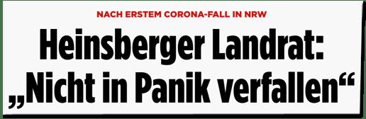 Screenshot Bild.de - Nach erstem Corona-Fall in NRW - Heinsberger Landrat: Nicht in Panik verfallen